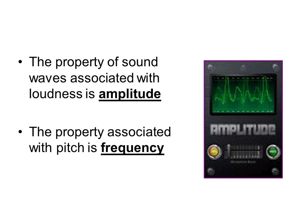 The property of sound waves associated with loudness is amplitude