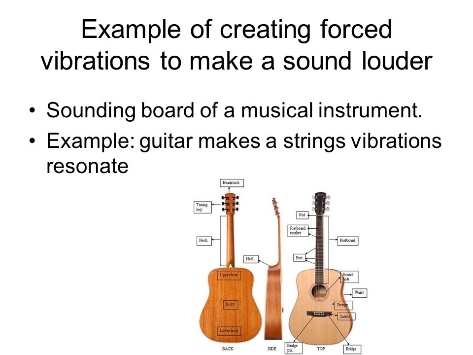 Example of creating forced vibrations to make a sound louder