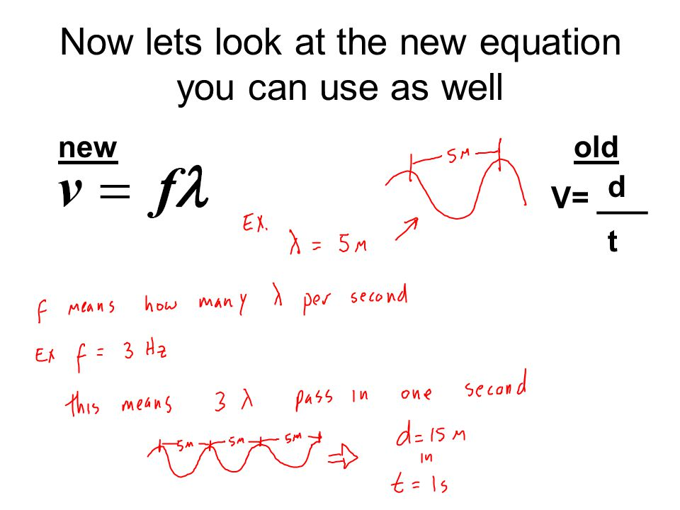 Now lets look at the new equation you can use as well