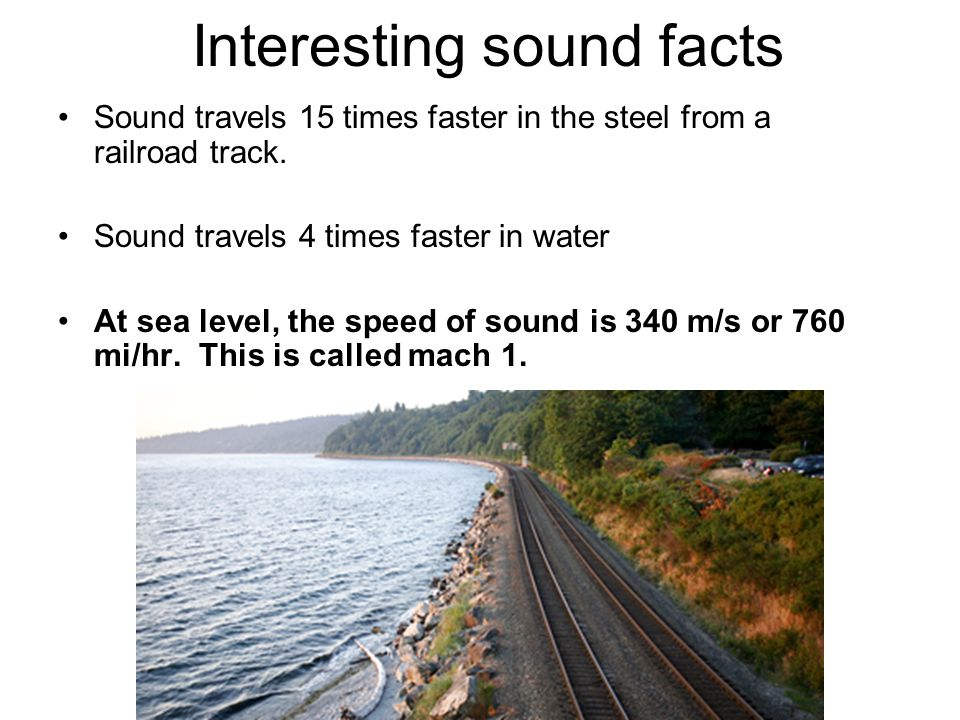Interesting sound facts
