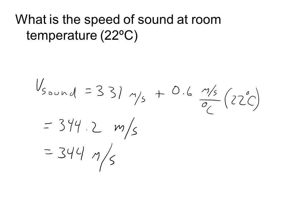 What is the speed of sound at room temperature (22ºC)