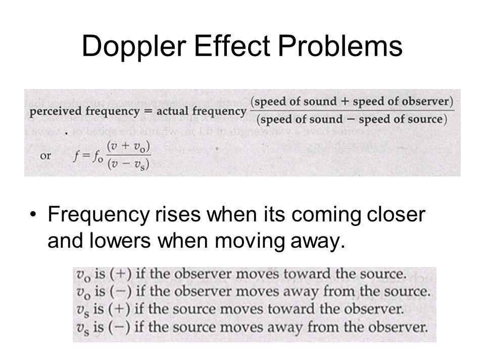 Doppler Effect Problems