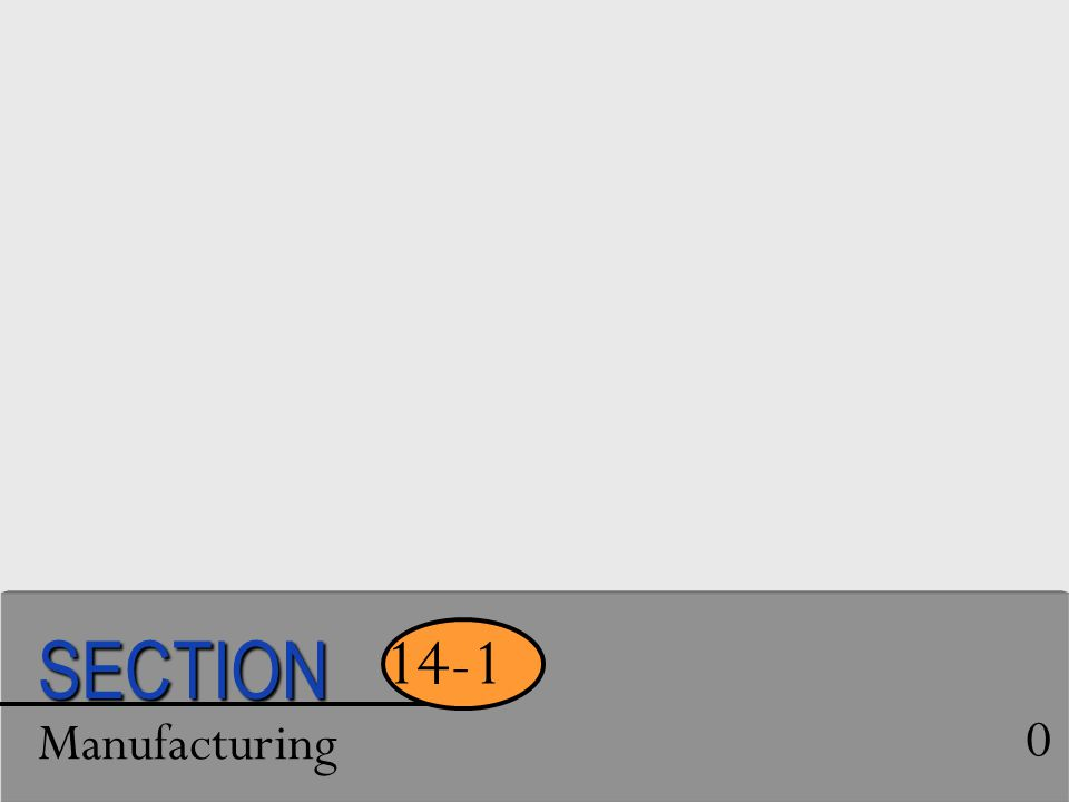 SECTION 14-1 Manufacturing