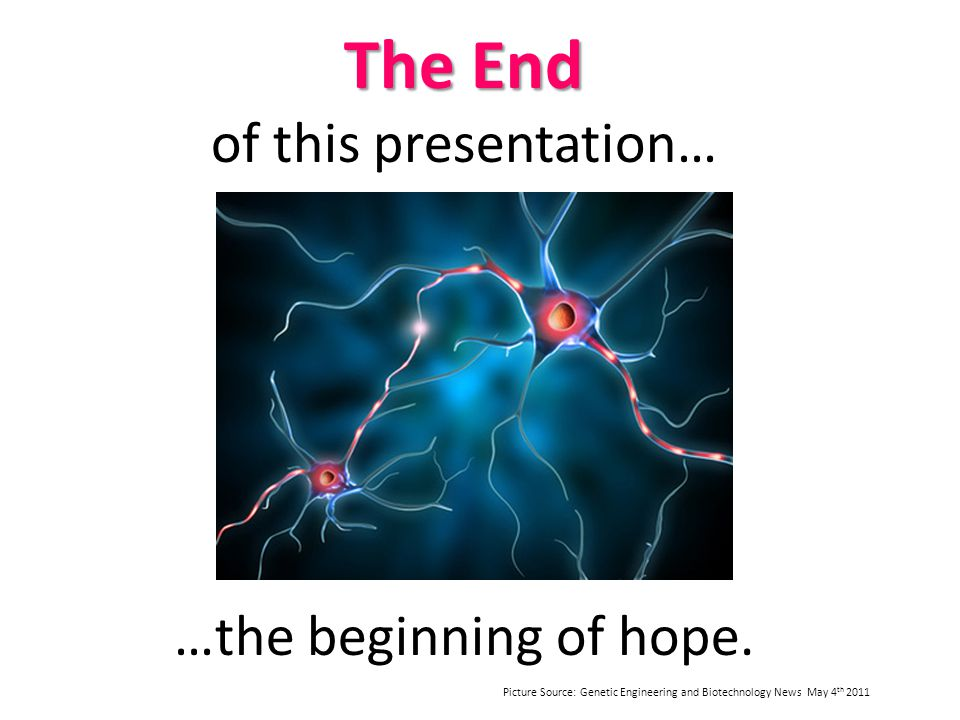 The End of this presentation…