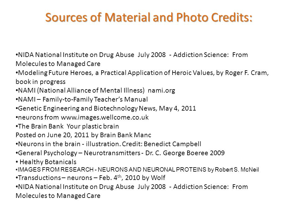 Sources of Material and Photo Credits: