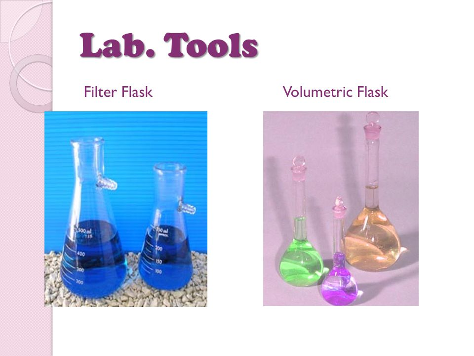 Lab. Tools Filter Flask Volumetric Flask