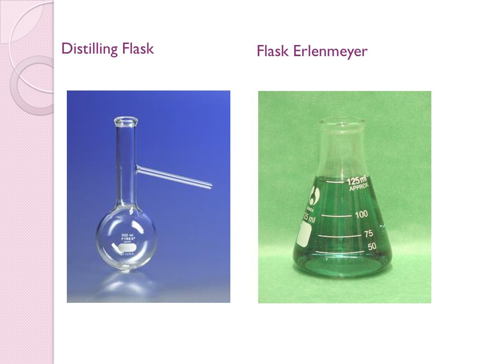 Distilling Flask Flask Erlenmeyer