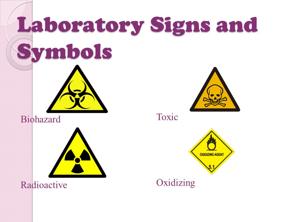Laboratory Signs and Symbols