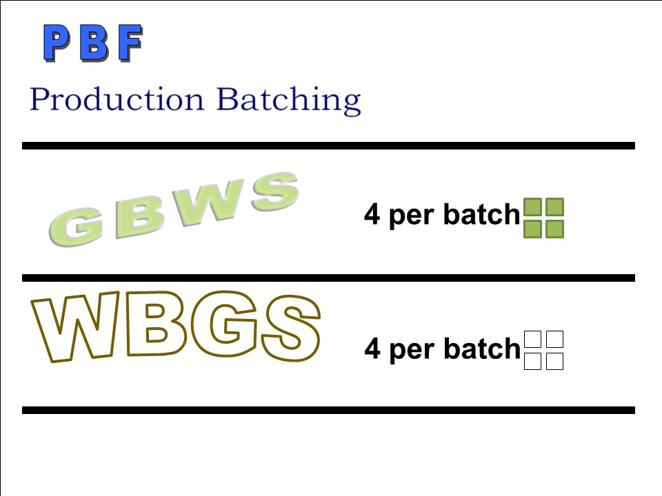 PBF GBWS 4 per batch 4 per batch WBGS