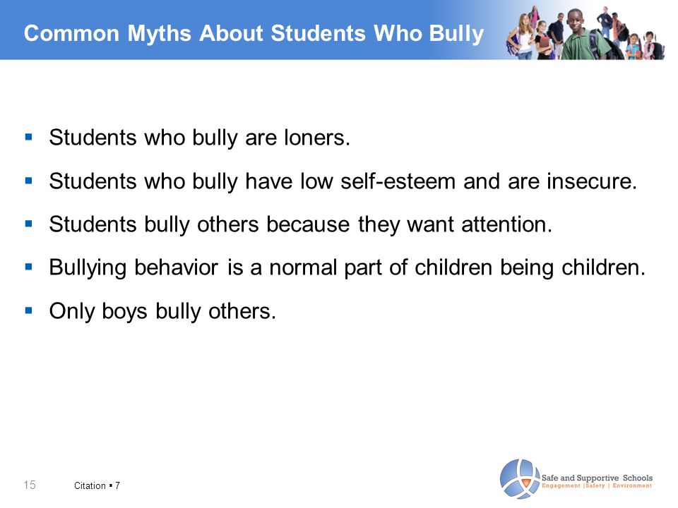 Common Myths About Students Who Bully