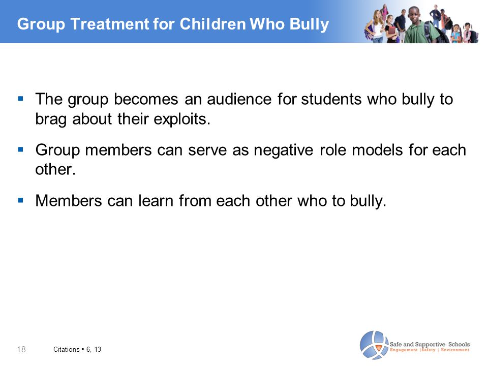 Group Treatment for Children Who Bully