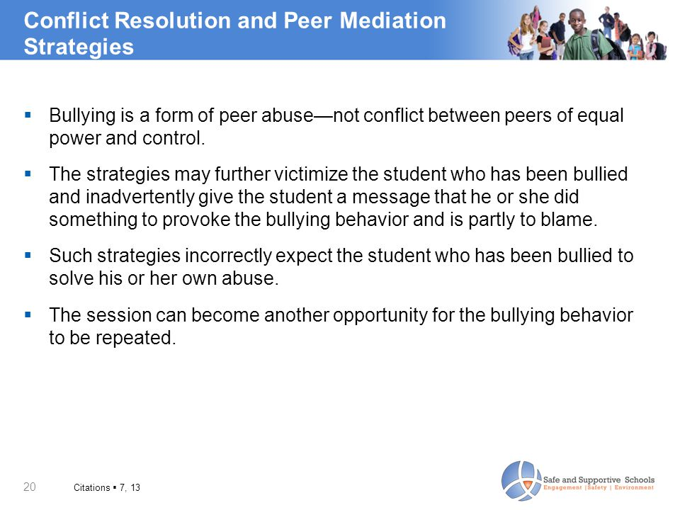 Conflict Resolution and Peer Mediation Strategies