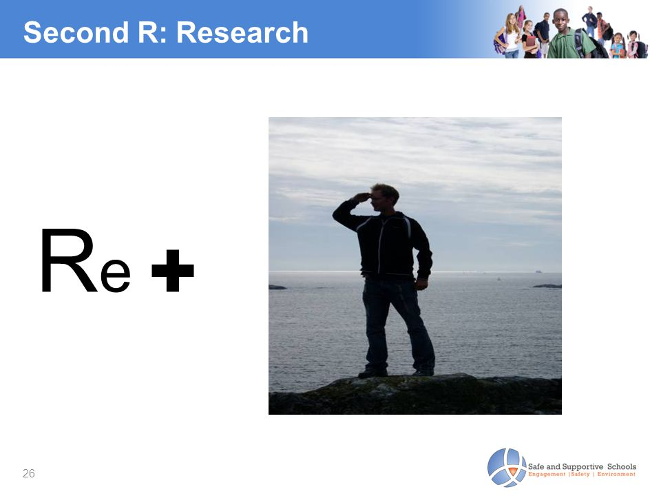 Second R: Research Re ✚