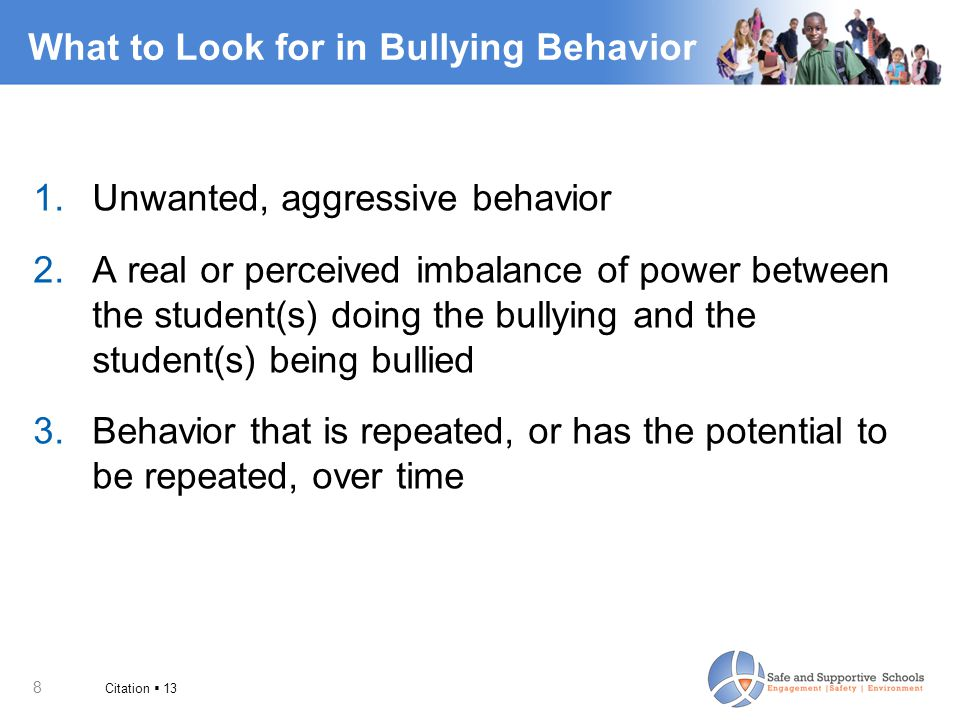 What to Look for in Bullying Behavior