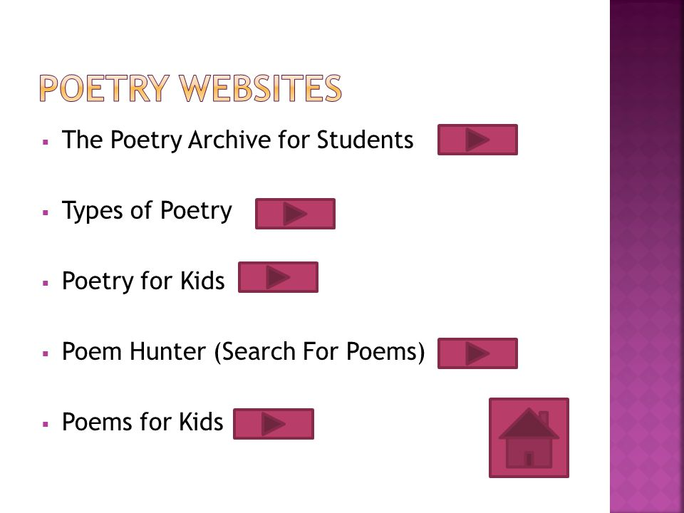 Poetry Websites The Poetry Archive for Students Types of Poetry