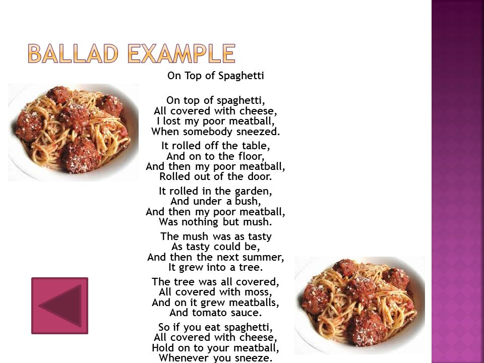Ballad example
