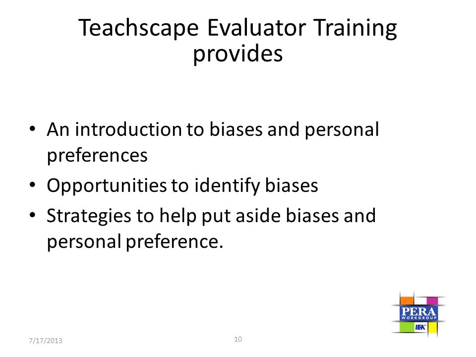 Teachscape Evaluator Training provides