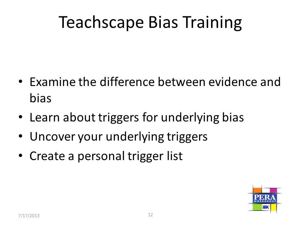 Teachscape Bias Training