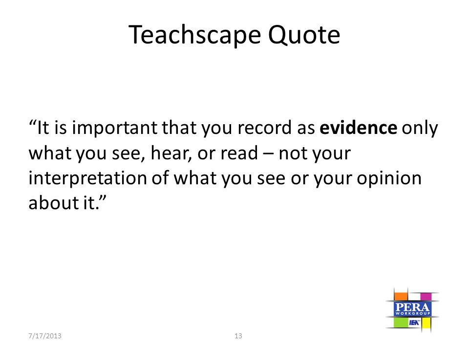 Teachscape Quote
