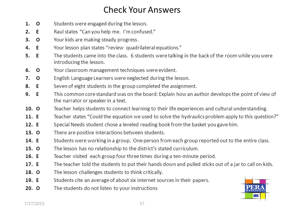 The Framework for Teaching - presentation