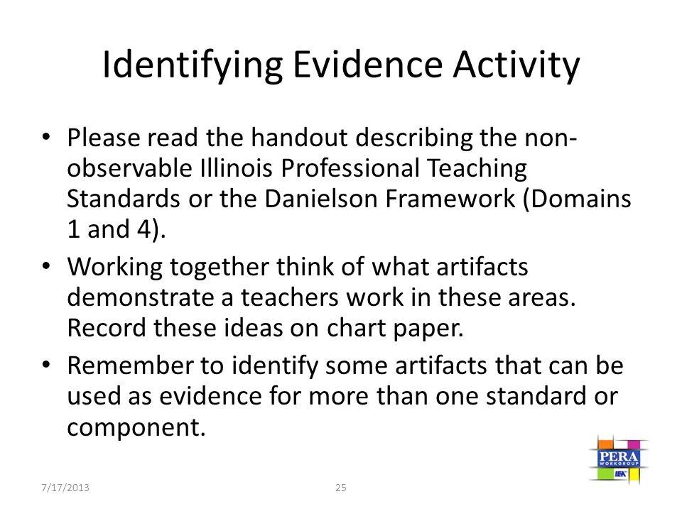 Identifying Evidence Activity