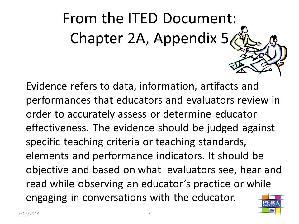 From the ITED Document: Chapter 2A, Appendix 5