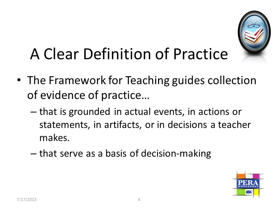 A Clear Definition of Practice