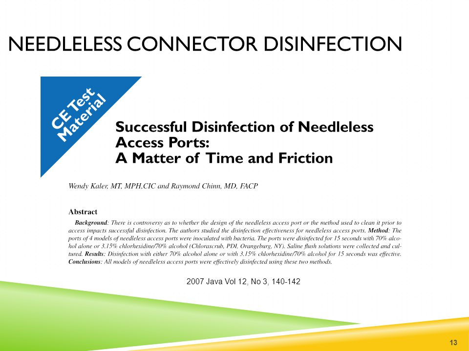 Needleless connector disinfection