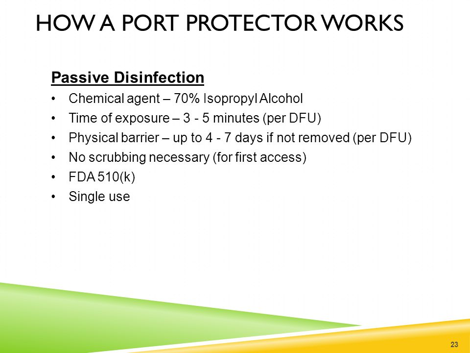 How a port protector works