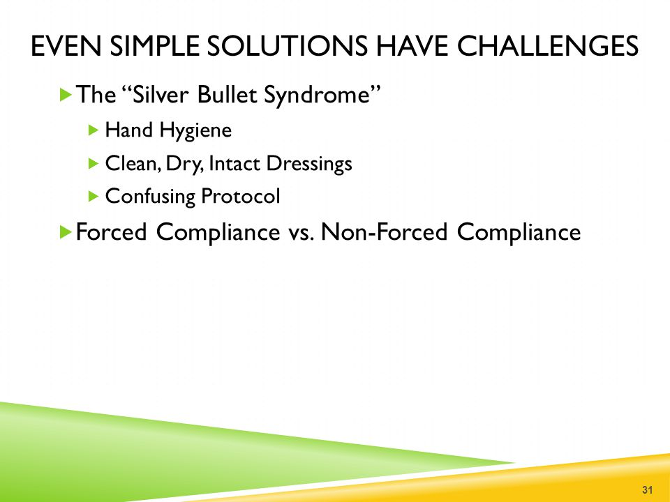 Even simple solutions have challenges