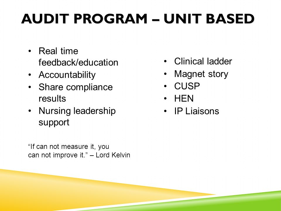 audit program – unit based