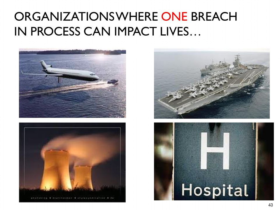 ORGANIZATIONS WHERE ONE breach in process CAN IMPACT lives…