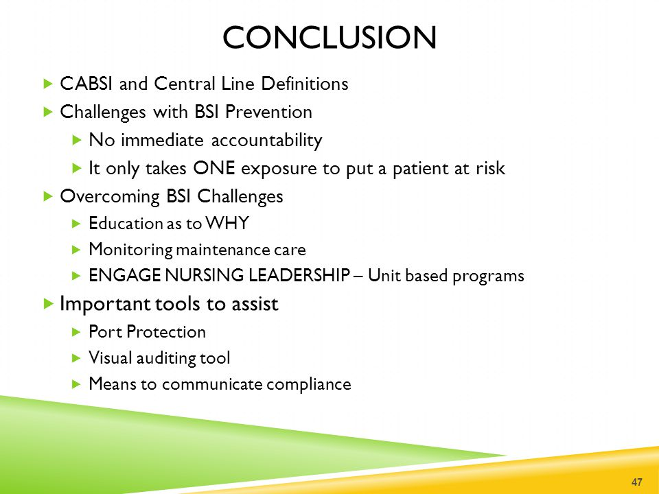 CONCLUSION Important tools to assist