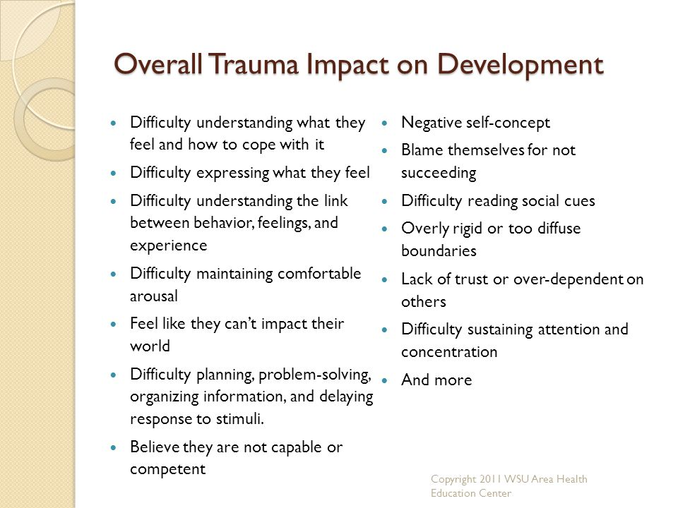 Overall Trauma Impact on Development