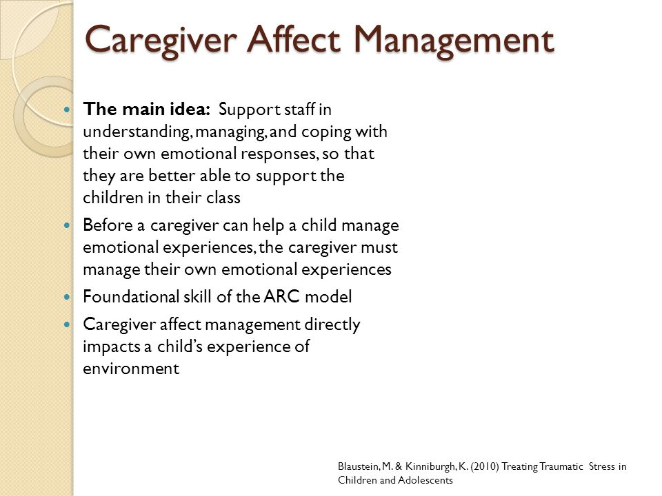 Caregiver Affect Management