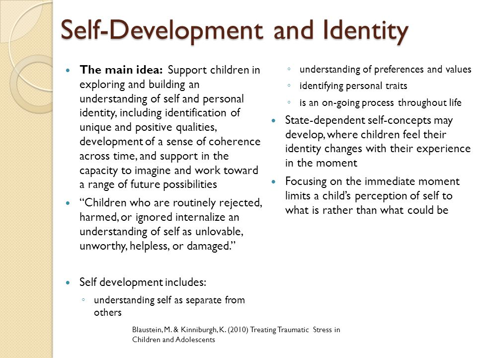 Self-Development and Identity