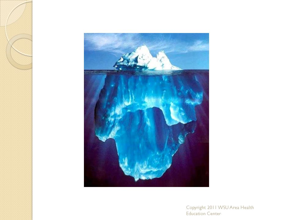 Person as an iceberg analogy