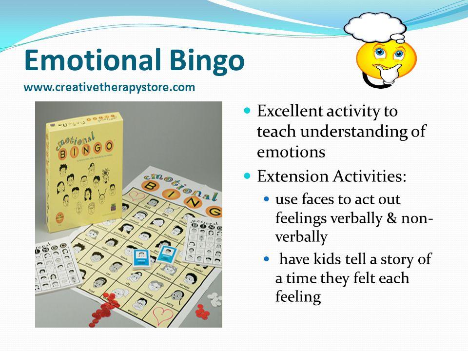 Emotional Bingo www.creativetherapystore.com