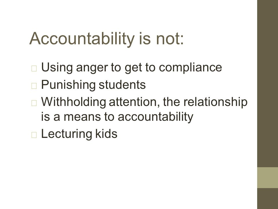 The 5 Steps to Accountability: