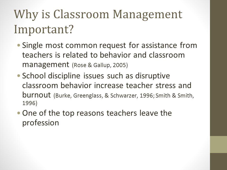Insufficient Classroom Management Competencies