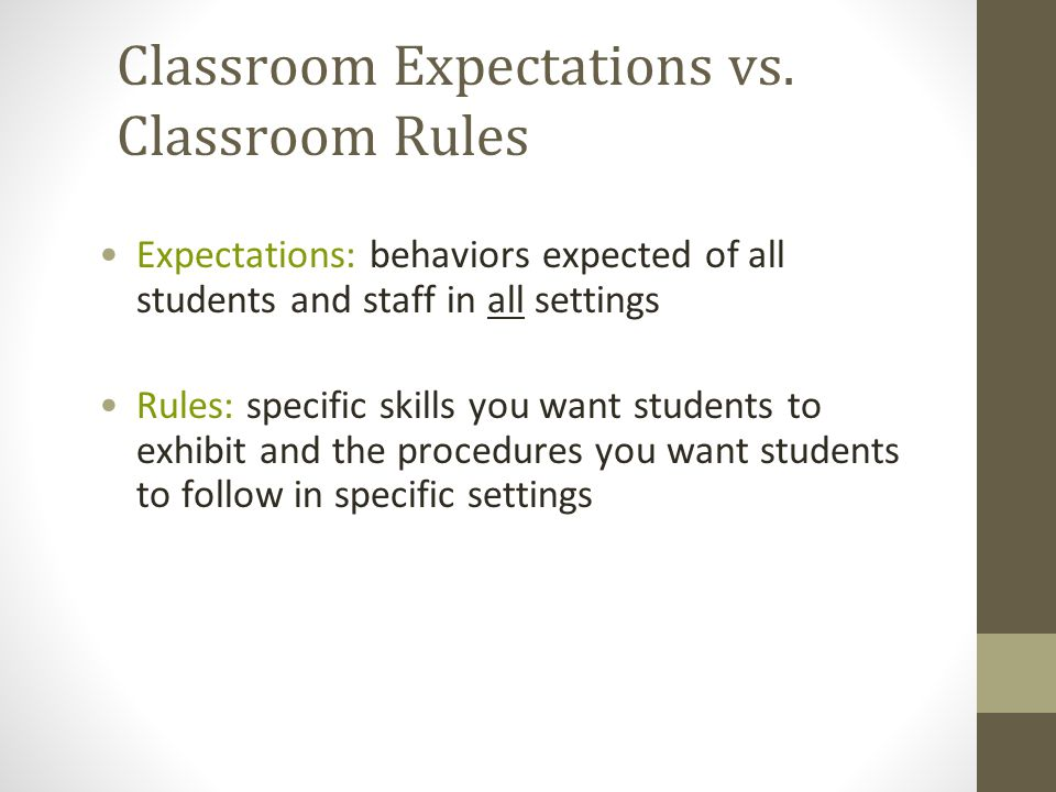 Similarities Between Expectations and Rules