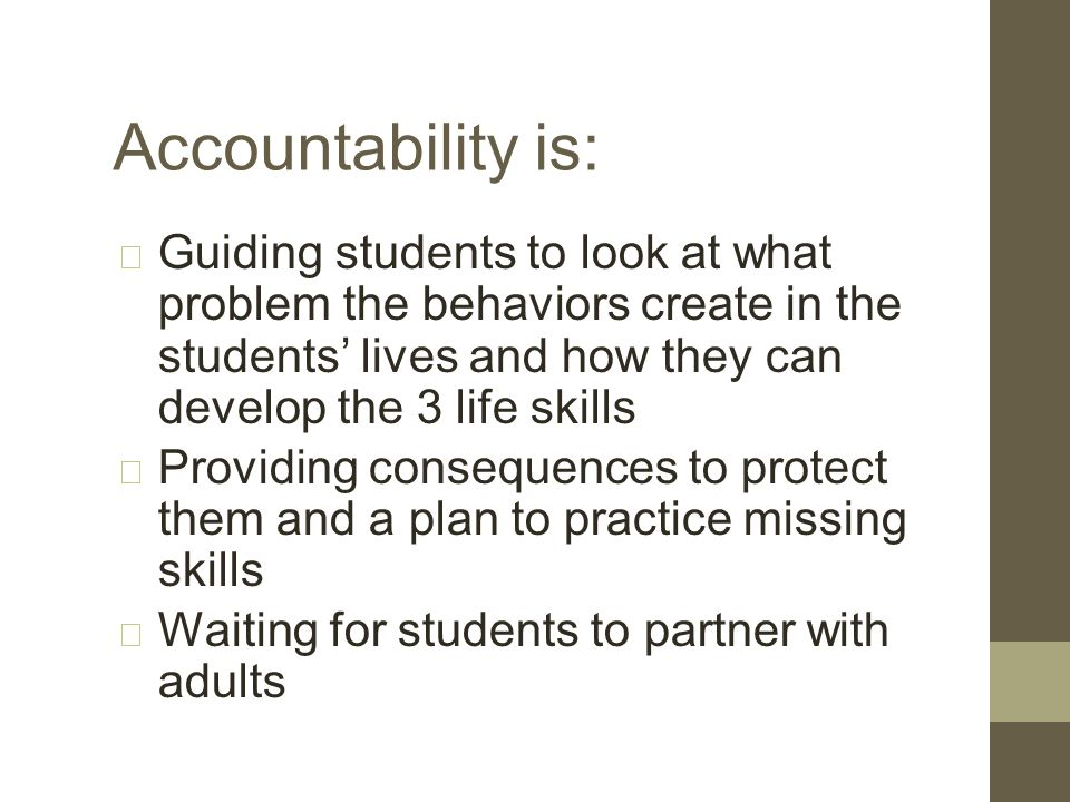 Accountability is not: