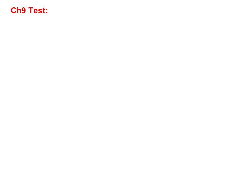 Ch9 Test: