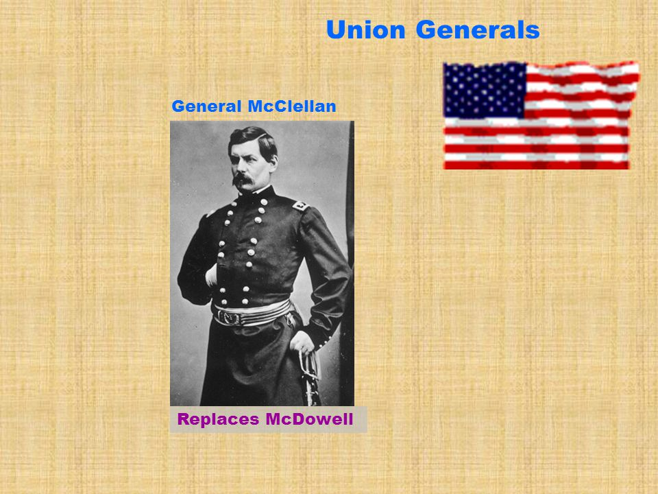 Union Generals General McClellan Replaces McDowell
