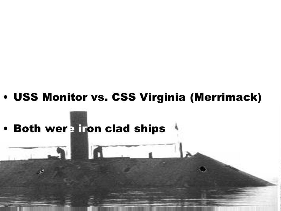USS Monitor vs. CSS Virginia (Merrimack)