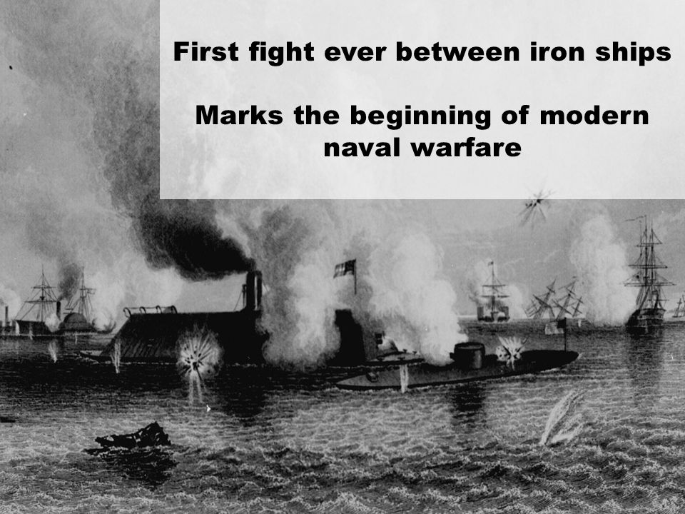 First fight ever between iron ships