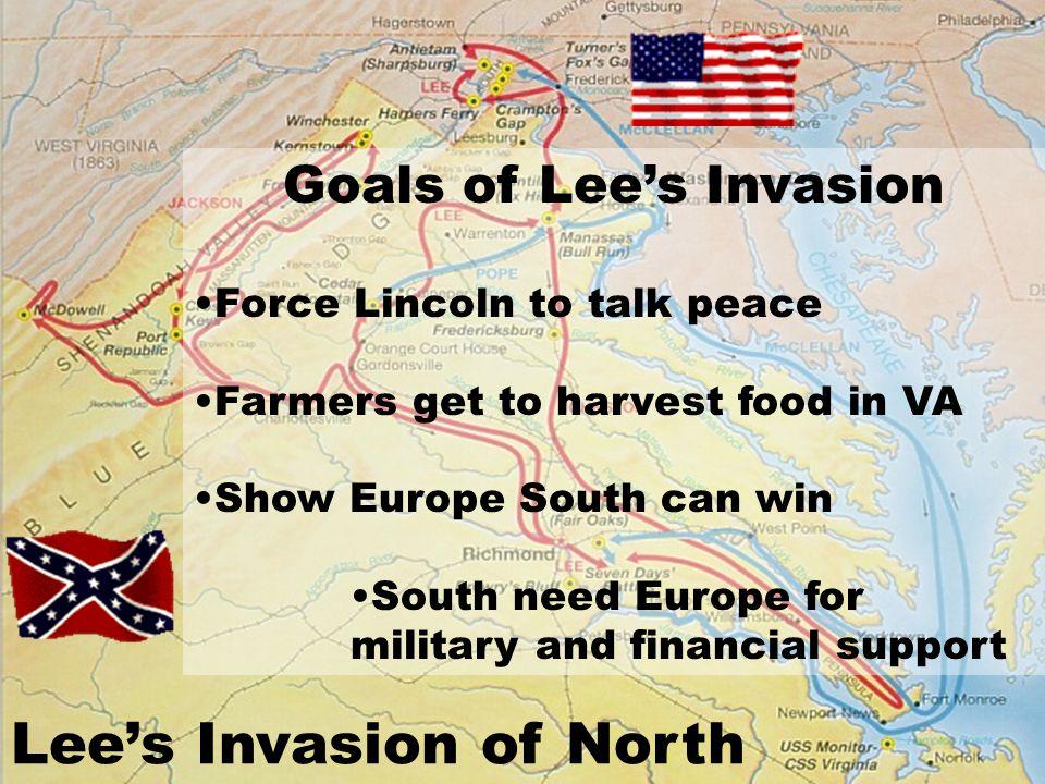 Goals of Lee's Invasion