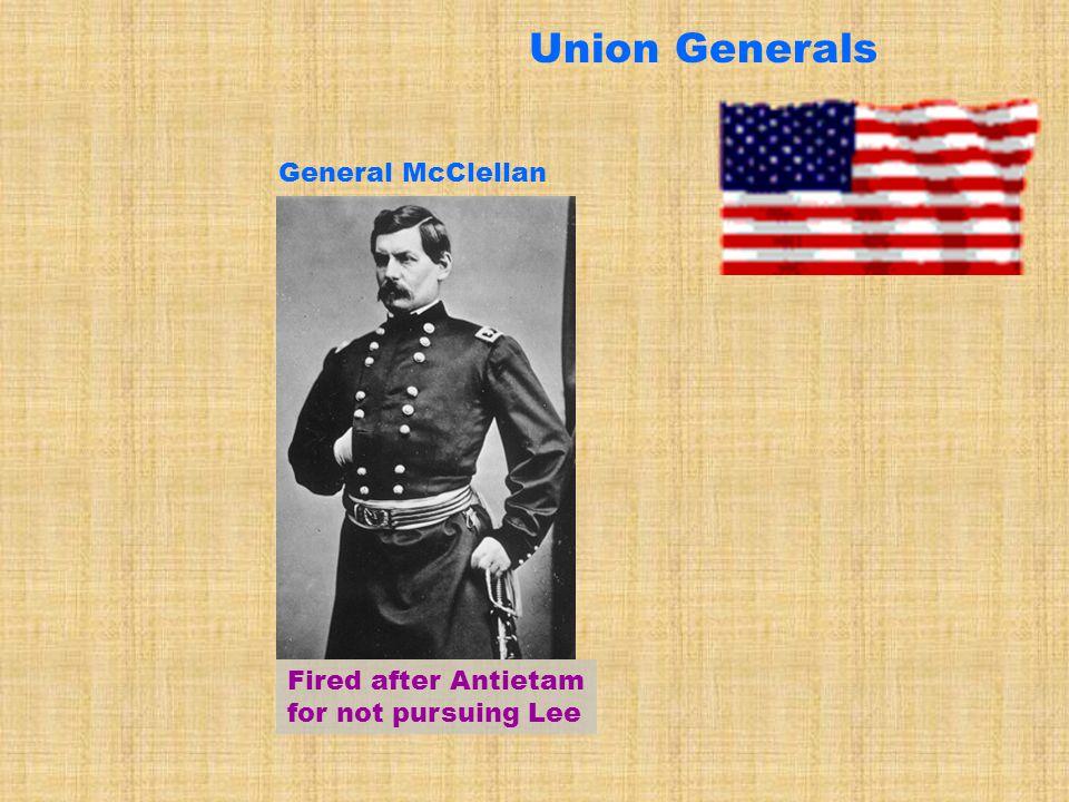 Union Generals General McClellan