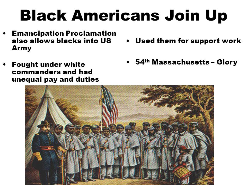 Black Americans Join Up