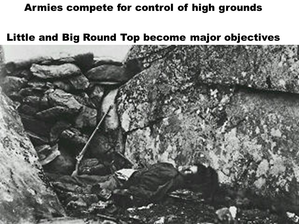 Armies compete for control of high grounds